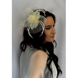 Fascinator Clip & Pin - mesh and feather fascinator beak clip and brooch pin