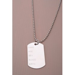 Dog Tags - Metal pendant chain