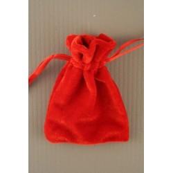 Red velvet drawstring pouch 9.5x7cm