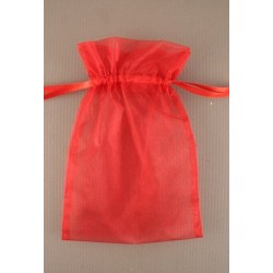 Organza gift bag - red - 15x22cm