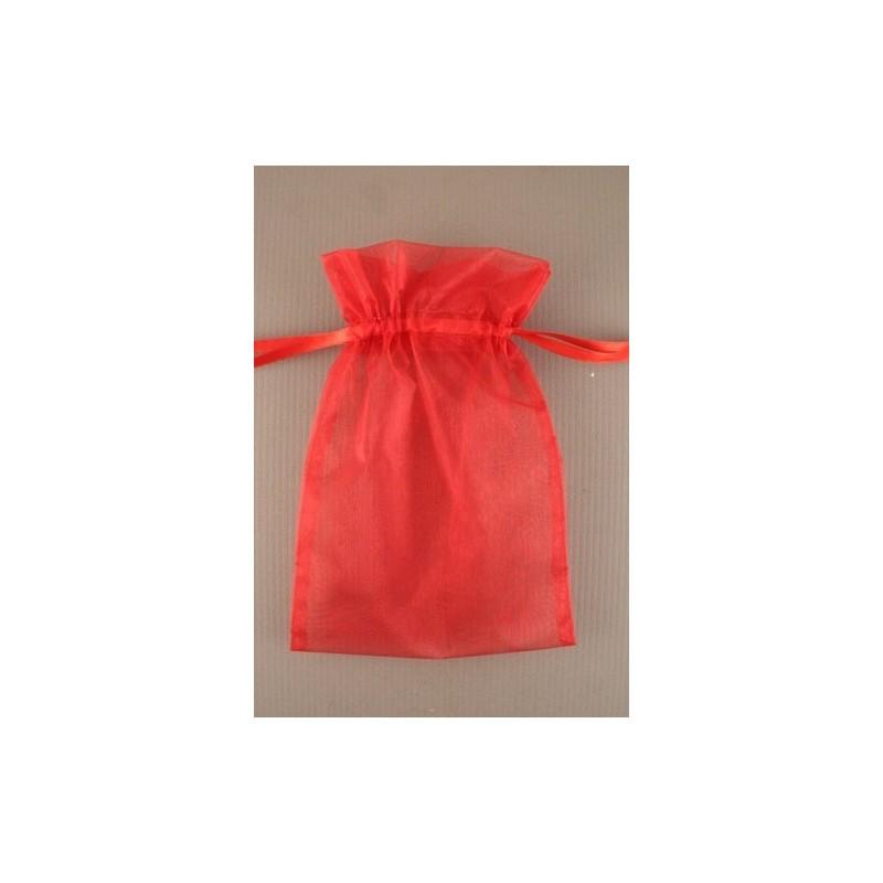 organza bolsa de regalo - rojo - 15x22cm