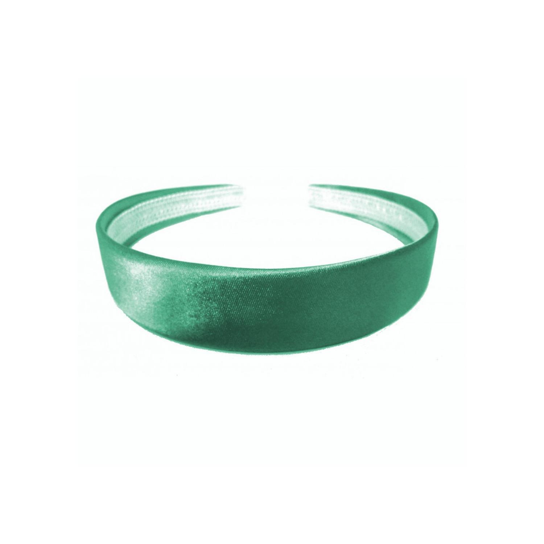 Headband - Dark Green Satin Head Band Alice Band