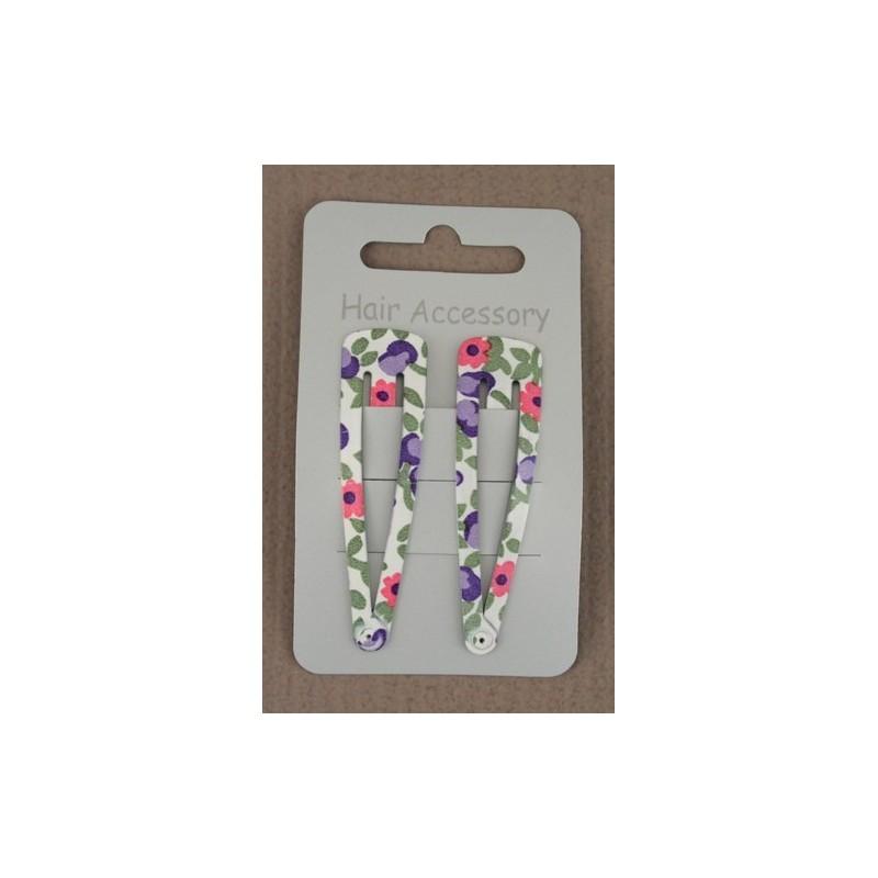 cartão de 2 cores sleepies estampas florais. tamanho 6 centímetros aprox.
