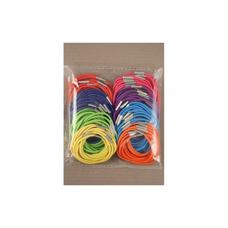 100 piezas brillantes elásticos delgados de color.