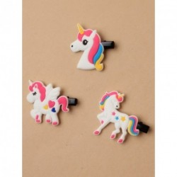 Unicorn Beack Clips - Unicorn motif beak clip in choice of 3 design hair clips