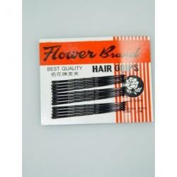 Kirby Hair Grips - 12 black 45mm waved hairpin hair grip slides