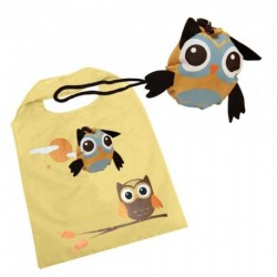 Eco Bag - Reusable Owl / Penguin shopping clip on bag