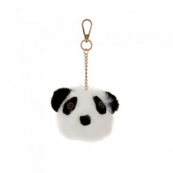 Keyring - Panda key ring with golden chain and snap clip