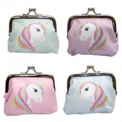 Coin Purse - Unicorn coin purse pastel colours with rainbow mane