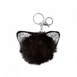 Keyring - Glitter cat ear pom pom key ring