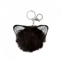 Keyring - Glitter cat ear...