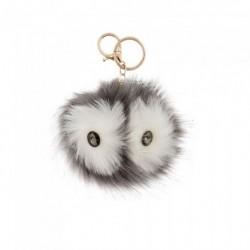 Keyring - Owl pom pom key ring