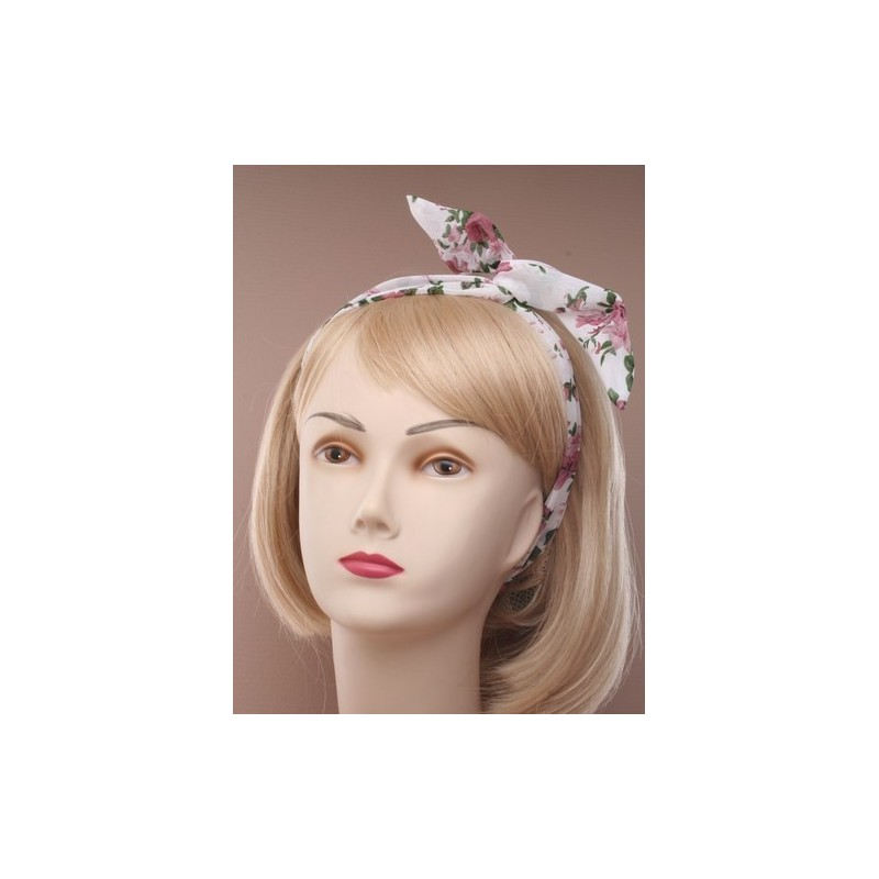 articulados de alambre banda - flores de tela impresa gasa cable cinta para la cabeza