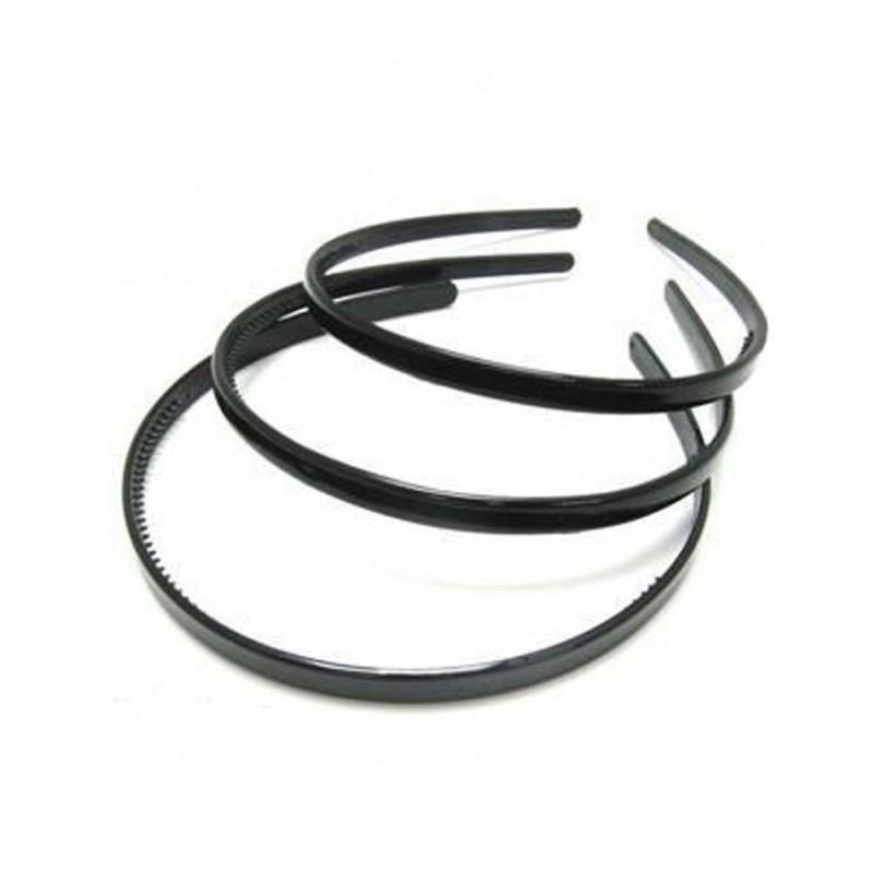 Aliceband - Triple Pack - Black narrow plastic headband alice bands