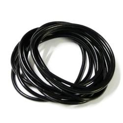 Black gummy wristband bangles x 12