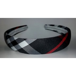 Headband - Tartan Plaid check print Headband Cream Black Red Tan Hair band Perfect Present alice band head band