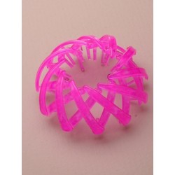Bun holder - Brightly coloured expanding pony tail/bun holder