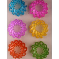 Bun holder - Brightly coloured expanding pony tail/bun...
