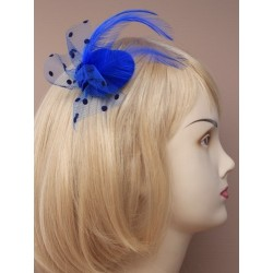 Mini Hatinator Clip - small coloured hat fascinator on a forked clip.