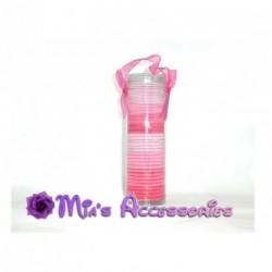 Hair elastics - Gift pack of 50 pink coloured hair elastics