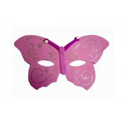 Butterfly face masks in soft foam with glitter detail