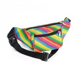 Rainbow print bum bag. - (BG31852)