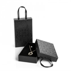 Medium size black colour paisley design gift box with...