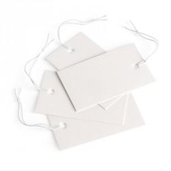 200 piece 3cm x 5cm white swing ticket. - (ST31844)