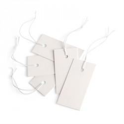 200 piece 2cm x 4cm white swing ticket. - (ST31843)