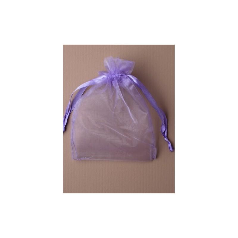 lila organza bolsa de regalo. tamaño aprox: 11x15.