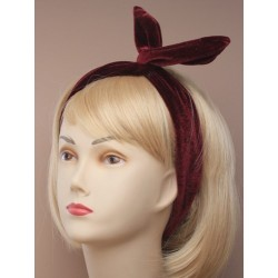 Bendy wire headwrap - Usagi head band in navy, teal, burgundy and purple