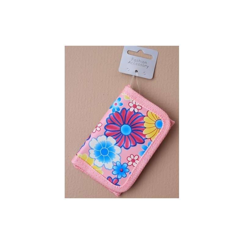 pink floral print purse. in 4 colours.