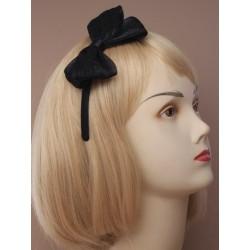 Aliceband - Chiffon shimmer bow on a narrow satin...