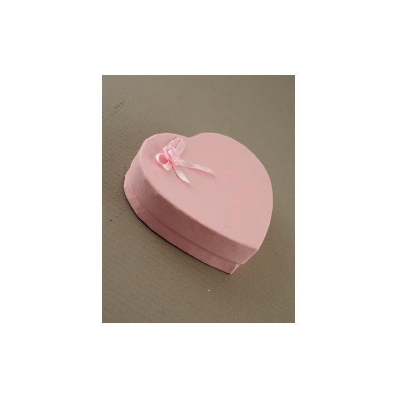 rosa rosebud coração caixa de presente em forma. 8x9x2.5cm aprox tamanho. esta caixa tem uma inserção pad reuniram com quatro ca