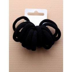 card of 12 black fabric endless elastics.
