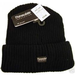 Beanie Hat - Black Thinsulate Knitted Beannie Hat