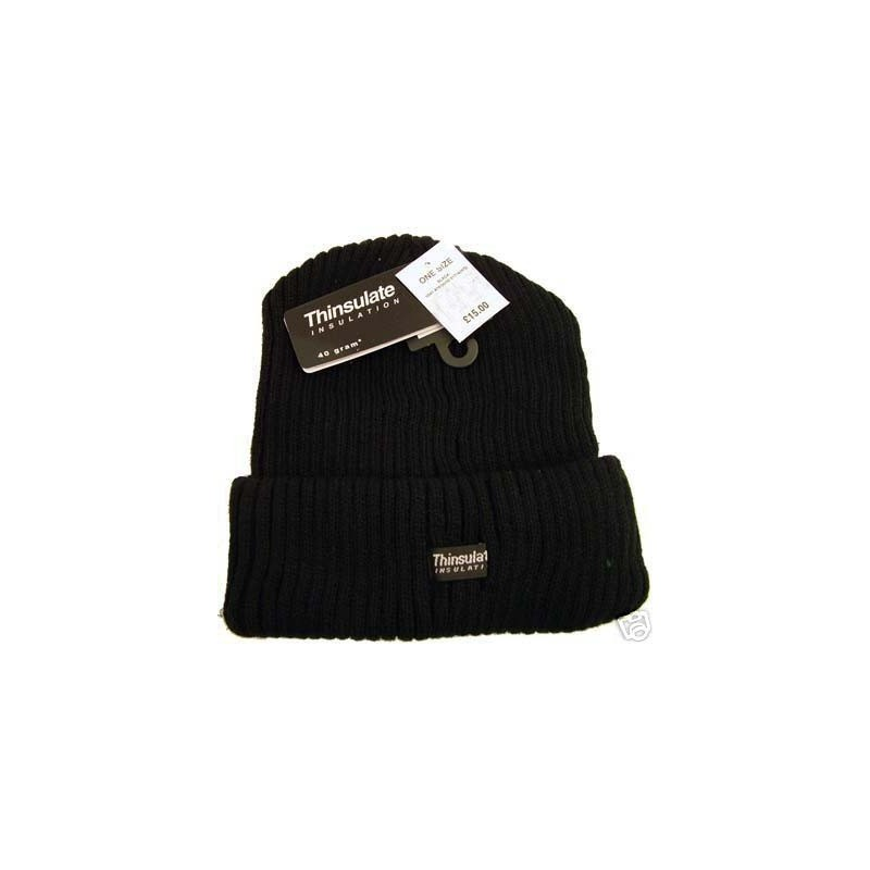 Beanie sombrero - negro thinsulate punto beannie sombrero