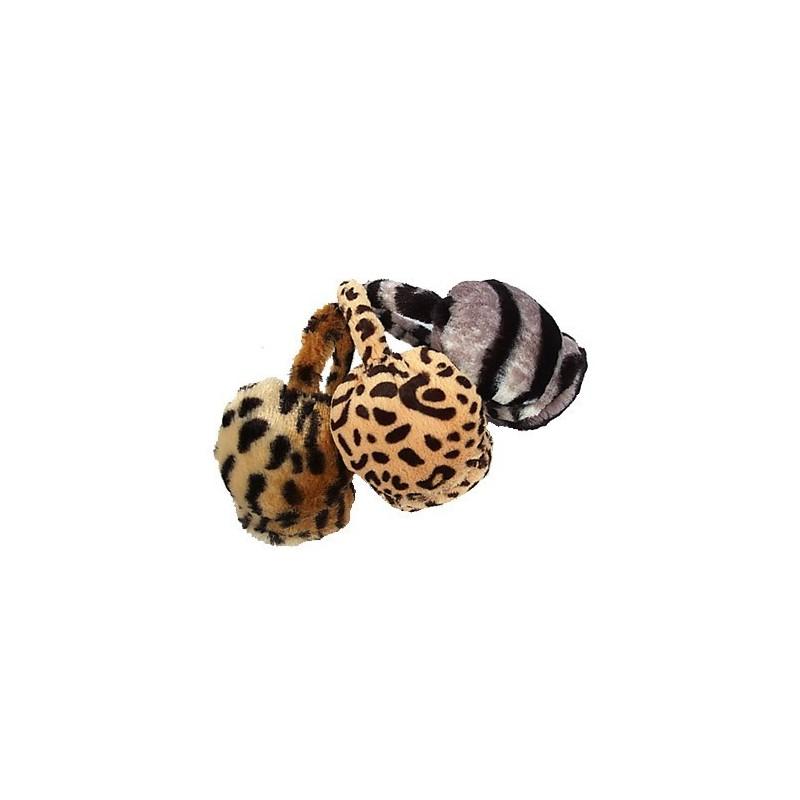orejeras - ajustable de imitación piel de animales orejeras de impresión
