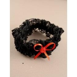 Brides black lace garter...
