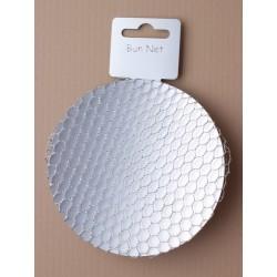 silver mesh bun net.